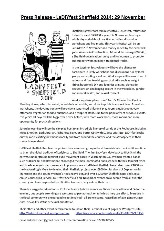 LaDIYfest press release 2014