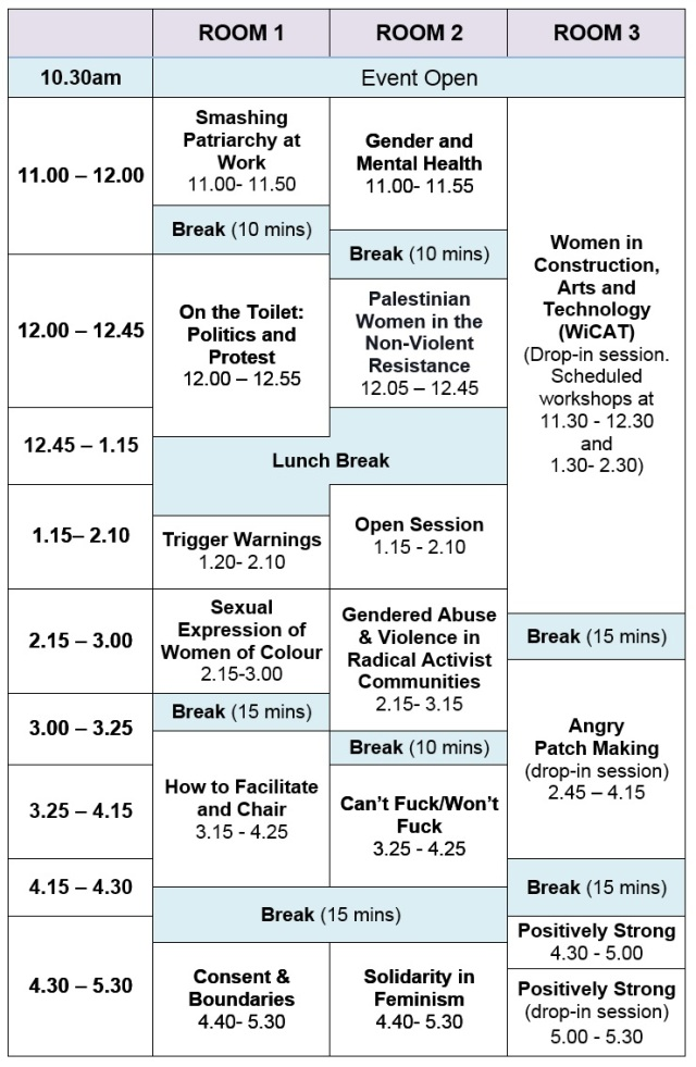 LaDIYfest 2014 workshop schedule